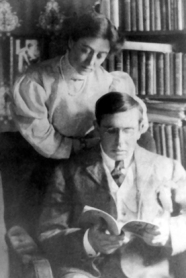with first wife, Sara Osborne White (Jug), c. 1907