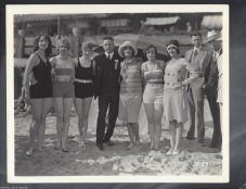 Carole Lombard et. al; group publicity photo; Marie Pergain 2nd from right