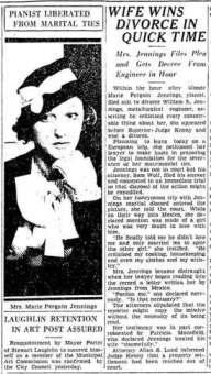 Marie Pergain Jennings, 1933