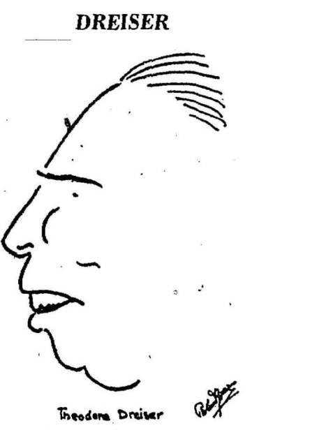 caricature of Dreiser by Roland Young, imageedit