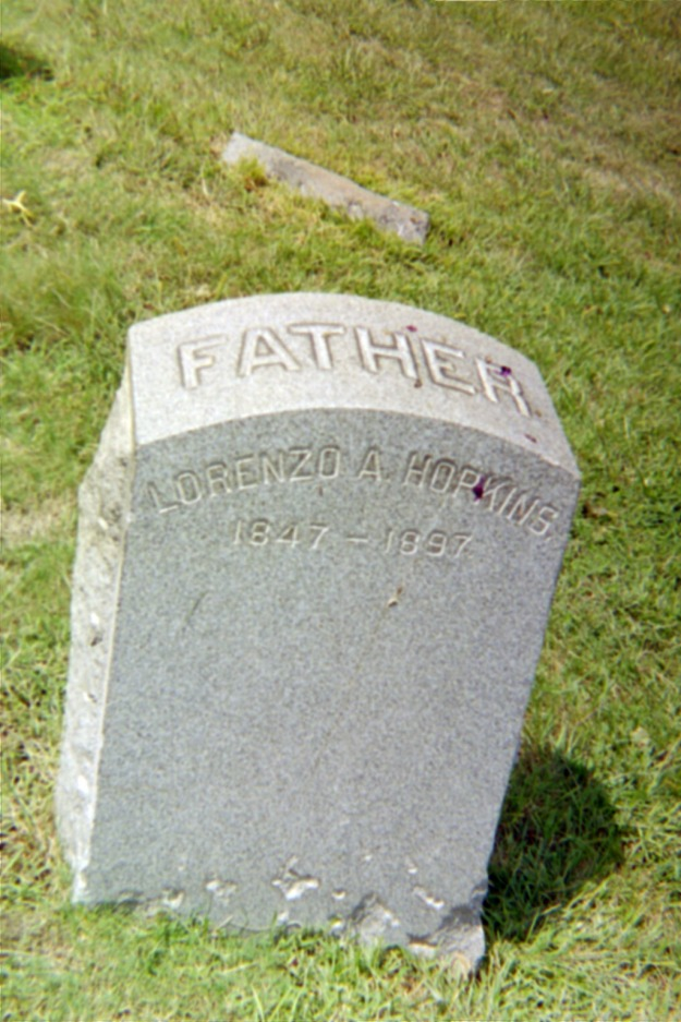 Lorenzo A. Hopkins grave.JPG