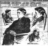 Chester Gillette; his attorney Albert M. Mills - The World (NY) 11-18-1906
