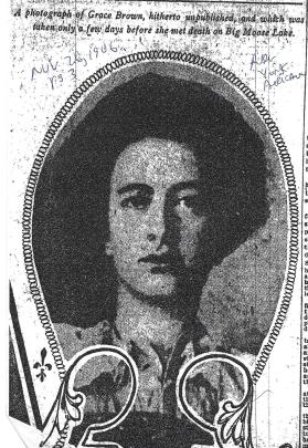 a photograph of Grace Brown taken shortly before she was murdered - American (NY) 11-26-1906