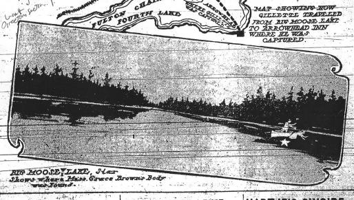 Big Moose Lake in the Adirondacks - The World (NY) 7-24-1906