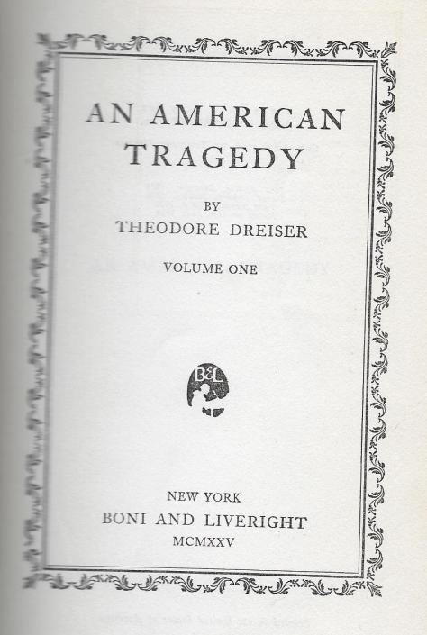 An American Tragedy - title page - vol. 1 (1925).jpg