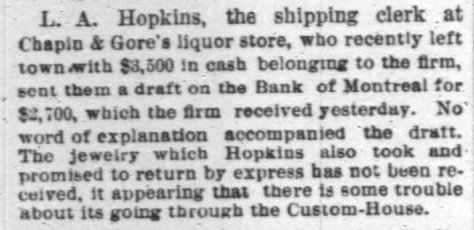 item re Hopkins (returned money) - Chi Tribune 2-19-1886, pg. 8.jpg