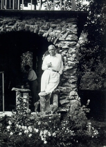 Dreiser at his Westchester County, NY estate, Iroki; courtesy Rare Book and Manuscript Library, University of Pennsylvania