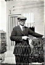 "Dreiser in Indiana during his ""Hoosier Holiday"" trip in 1914; this photo is misidentified on the University of Pennsylvania's site devoted to Dreiser as having been taken in Hollywood"