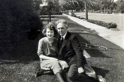 Dreiser and Helen in Hollywood, ca. 1920-21, shortly after they had met and when Helen was pursing an acting career