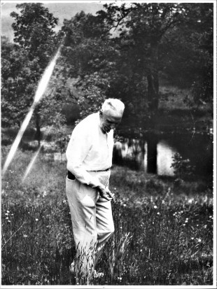Dreiser on his Westchester County, NY, estate; courtesy Vigo County Historical Society