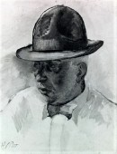 sketch of Dreiser by Henry Poor