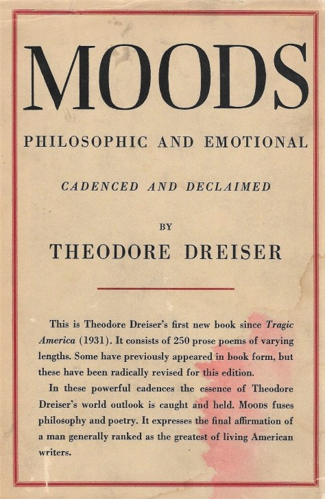 Dreiser, 'Moods' - cover