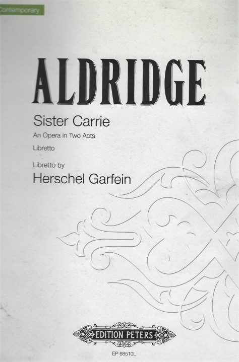 'Sister Carrie' - libretto - cover